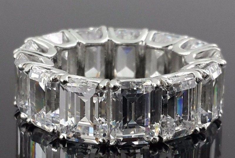 Emerald Eternity Wedding Band Celebrity Inspired Ring