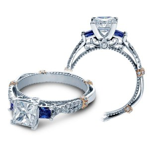 Sterling Silver Princess Cut Diamond 3 Stone Ring 2.21 CTW