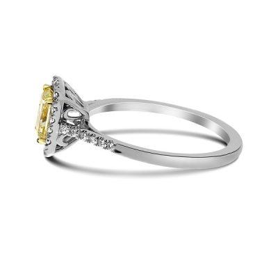 Princess Canary Yellow Diamond Wedding Engagement Ring
