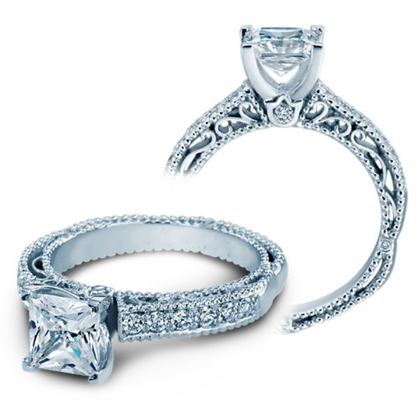 925 Sterling Silver Princess Diamond Solitaire Engagement Rings Ring 2.27 CT