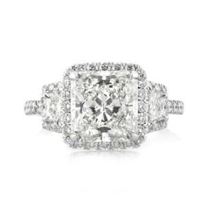 Princess Cut Diamond 3Stone Engagement Ring 4.70