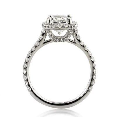 White Radiant Cut Diamond Engagement Ring 2.65Ctw
