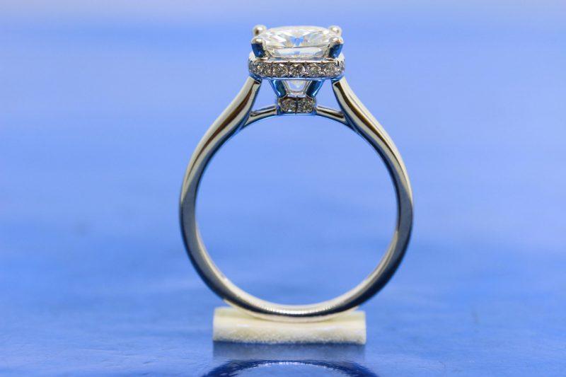 1.75Ct Round Moissanite Diamond Engagement Wedding Ring 925 Sterling Silver