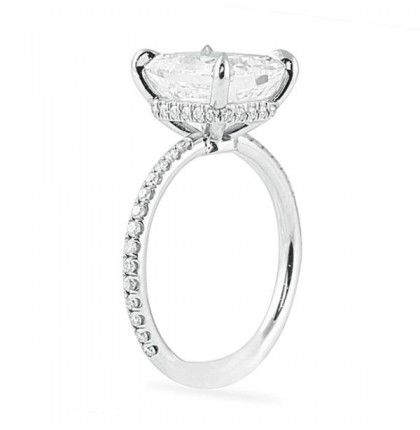 Solitaire Round Cut Diamond Engagement & Propose Ring 925 Sterling Silver