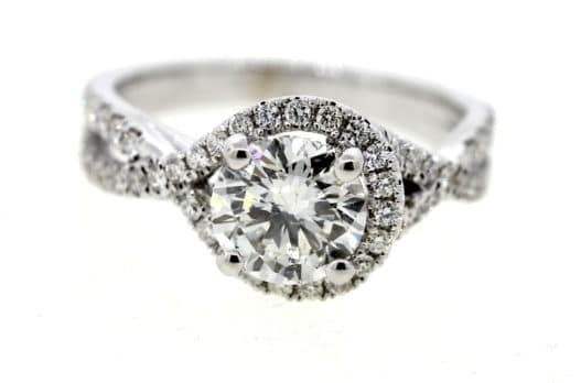2.Ct Real Round Cut Diamond Classic Engagement Ring Wedding Ring 925 Sterling Silver