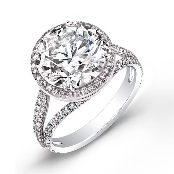 1.65Ct Brilliant Moissanite Halo Classic Engagement Bridal Wedding Ring 925 Sterling Silver