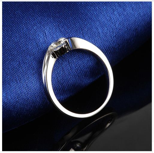1.50 CT Fancy Round Cut Diamond Engagement Ring 925 Sterling Silver