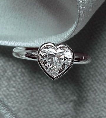 Bezel Heart Shape Diamond Propose & Valentine Day Special Ring 925 Sterling Silver
