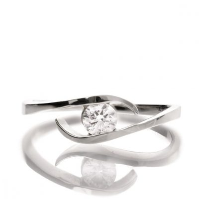 1.80Ct Bypass Round Cut Diamond Fancy Engagement Anniversary Ring 925 Sterling Silver