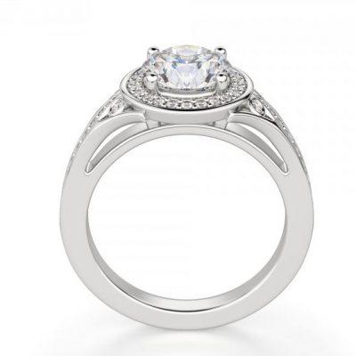 1.75Ct Near White Moissanite Halo Diamond Bridal Engagement Ring 925 Sterling Silver