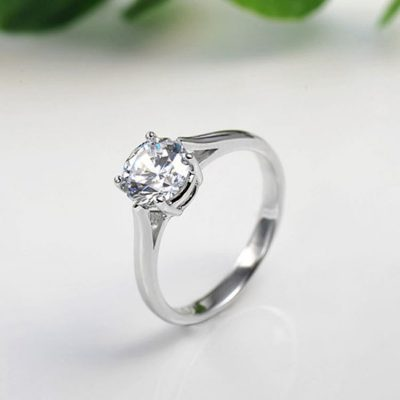 2.50Ct Simple Solitaire Round Cut Diamond Engagement & Propose Ring 925 sterling Silver