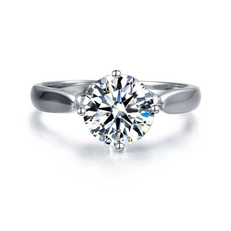 1.65Ct Solitaire Round Cut Moissanite Engagement & Propose Ring 925 Sterling Silver