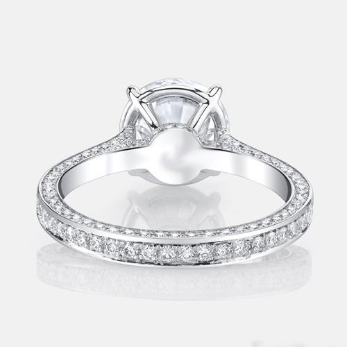 1.45Ct Forever Near White Brilliant Moissanite Engagement Wedding Bridal Ring 925 Sterling Silver