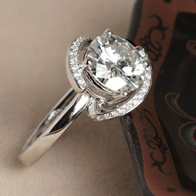 1.20Ct Forever Round Cut Moissanite Solitaire Engagement Ring 925 Sterling Silver