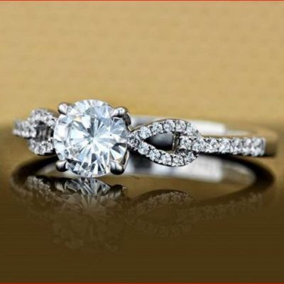 1.15Ct Brilliant Cut Moissanite Fancy Solitaire Engagement & Promise Ring 925 Sterling Silver