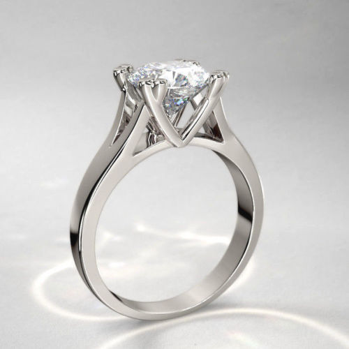 1.50Ct Off White Moissanite Gorgeous Engagement & Propose Ring 925 Sterling Silver