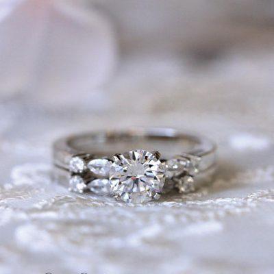 1.20Ct Brilliant Cut Moissanite Bridal Wedding Ring & Anniversary Band 925 Sterling Silver
