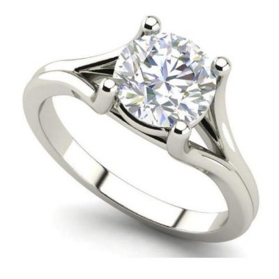 4 Prong 1.35Ct Near White Moissanite Engagement & Promise Ring 925 Sterling Silver