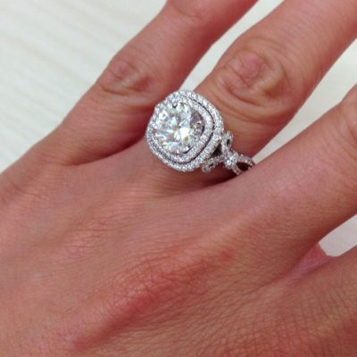 1.20Ct Brilliant Round Moissanite Engagement Wedding Ring 925 Sterling Silver