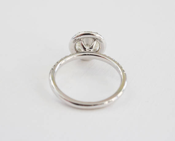 1.35Ct Off White Moissanite Engagement Wedding Ring Set 925 Sterling Silver