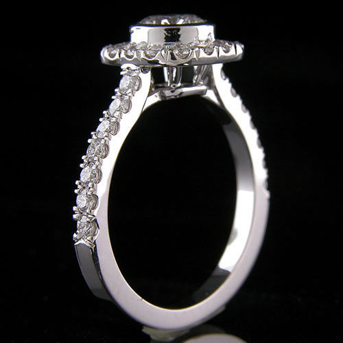 1.30Ct Brilliant Round Cut Moissanite Engagement Wedding Ring 925 Sterling Silver