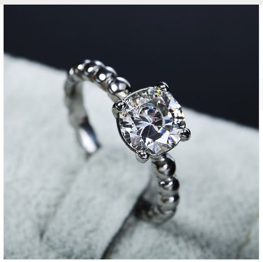 1.38Ct Round Cut Moissanite Engagement Anniversary Ring 925 Sterling Silver