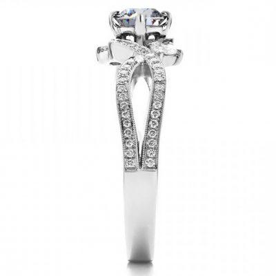Forever 1.50Ct Near White Moissanite 3 Stone Engagemnet Ring 925 Sterling Silver