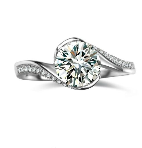 1.40Ct Near White Moissanite Dream Engagement Wedding Ring 925 Sterling Silver