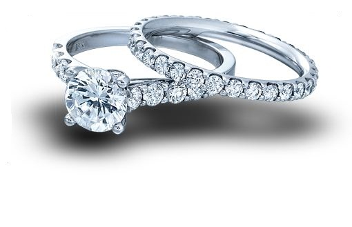 1.38Ct Brilliant Cut White Moissanite Solitaire Engagement Band Ring Set 925 Sterling Silver