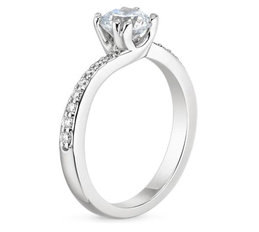 Round Cut 1.40Ct Off White Moissanite Engagement Ring 925 Sterling Silver