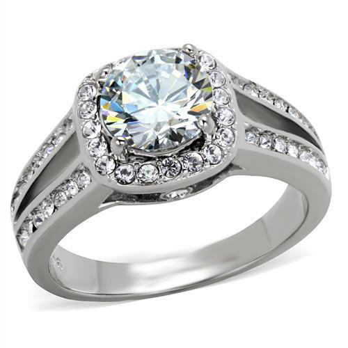 Certified 1.35Ct Real Moissanite Halo Engagement Wedding Ring 14K White Gold