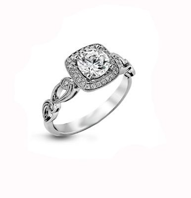 1.40Ct Round Cut Moissanite Engagement Wedding Ring 14K White Gold