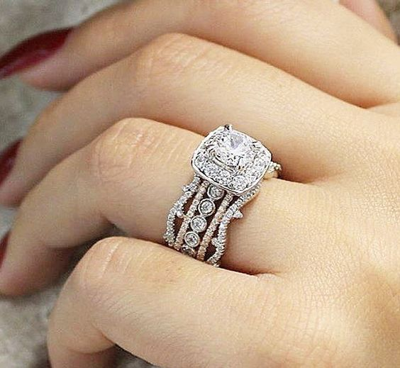Solitaire Round Cut Diamond Bridal Wedding Ring 925 Sterling Silver