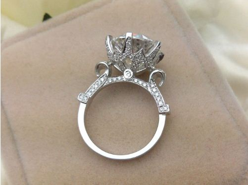 2.30CT Brilliant Solitaire Round Cut Diamond Engagement Ring 925 Sterling Silver