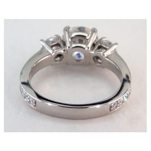 3 Stone 1.80CT Near White Moissanite Engagement Propose Ring 925 Sterling Silver 1.80CT