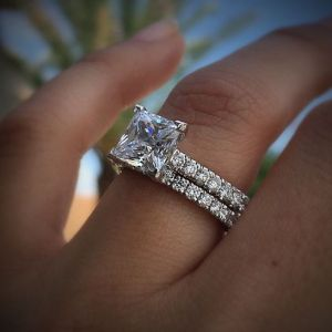 2.30Ct Princess Cut Diamond Engagement Ring 925 Sterling Silver (Copy)