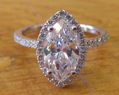 Marquise Cut Halo Diamond Engagement & Propose Ring 925 Sterling Silver