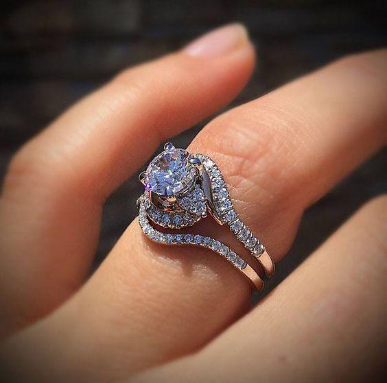 Gorgeous Round Cut Diamond Bridal Wedding Ring 925 Sterling Silver