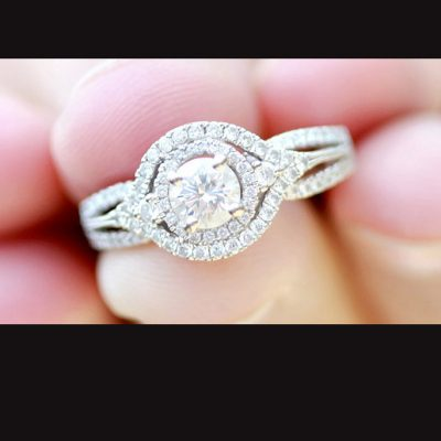 Fancy Round Cut Diamond Engagement Anniversary Gift Ring 925 Sterling Silver