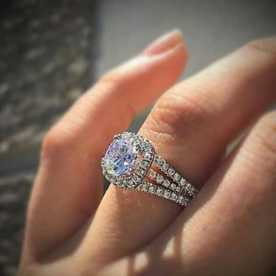 1.75ct Real Round Moissanite Fantastic Wedding Engagement Ring Solid 14k White Gold