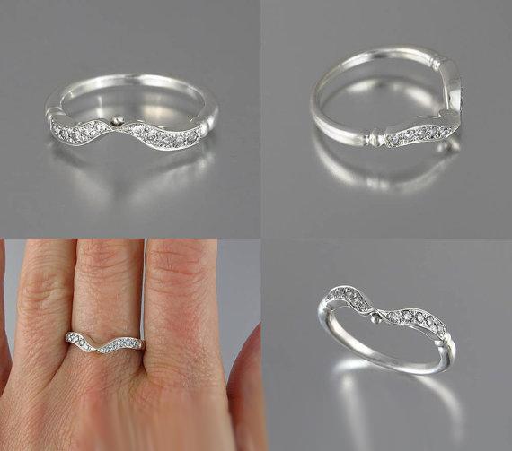 Bezel Style 1.55Ct Round White Moissanite Engagement Wedding Ring Set Solid 14k White Gold