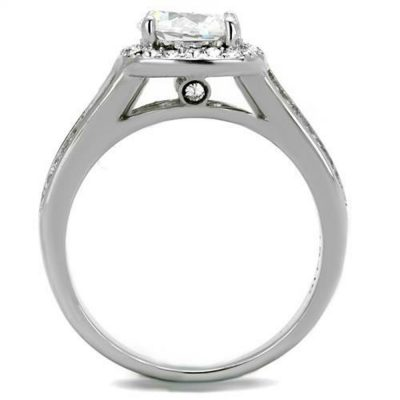 Unique 1.60Ct White Moissanite Split Shank Engagement Wedding Ring Solid 925 Sterling Silver