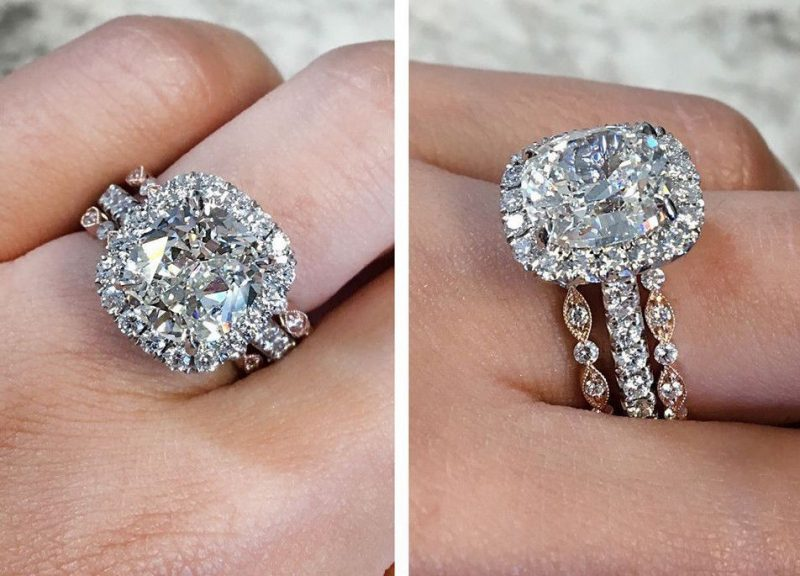 2.30Ct Round Cut Moissanite Luxury Bridal Wedding 3 Piece Ring 925 Sterling Silver