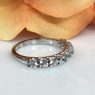 1.88ct Brilliant Cut Moissanite Infinity Engagement Anniversary Ring 925 Sterling Silver