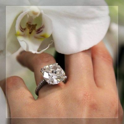 Gorgeous 2.10Ct Brilliant Cushion Diamond Engagement Ring Solid 925 Sterling Silver