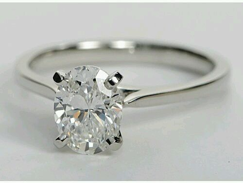 Simple & Solitaire 1.80Ct Oval Cut Diamond Engagement Promise Ring 925 Sterling Silver