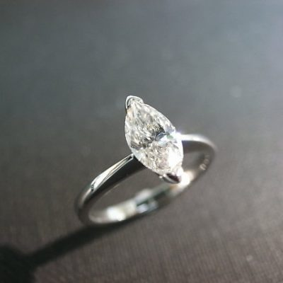 1.75Ct Brilliant Marquise Cut Diamond Solitaire Engagement Ring 925 Sterling Silver