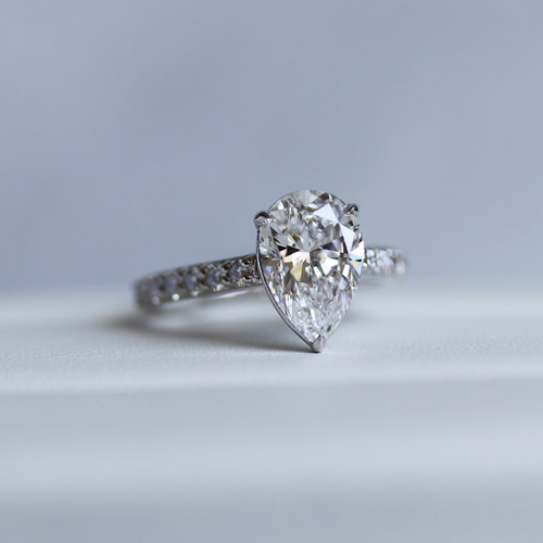 Solitaire 2.40Ct Pear Cut Diamond Engagement Promise Ring Solid 925 Sterling Silver