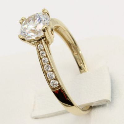 1.60Ct Excellent Round Cut White Moissanite Wedding Engagement Ring Solid 14k Yellow Gold