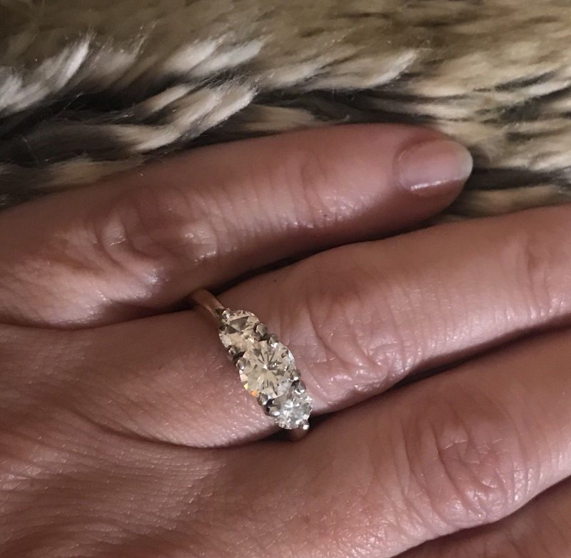 Forever 1.88Ct Brilliant Round 3-Stone Moissanite Stone Engagement Ring Solid 14k Yellow Gold